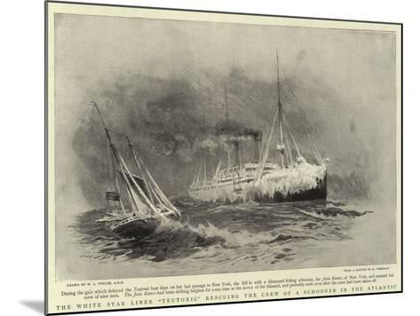The White Star Liner Teutonic Rescuing the Crew of a Schooner in the Atlantic-William Lionel Wyllie-Mounted Giclee Print