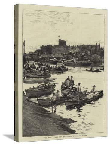 The Volunteer Review, Going Down by River-William Lionel Wyllie-Stretched Canvas Print
