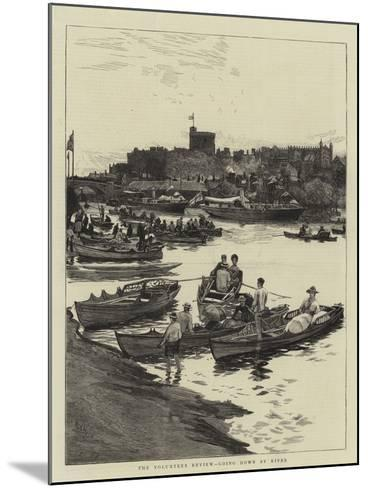 The Volunteer Review, Going Down by River-William Lionel Wyllie-Mounted Giclee Print