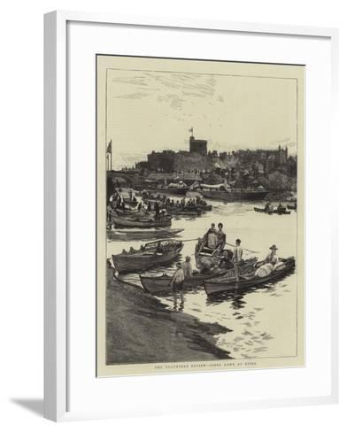 The Volunteer Review, Going Down by River-William Lionel Wyllie-Framed Art Print