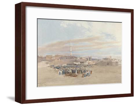 The Market Place, Tanga, Egypt, 1874-William Paton Burton-Framed Art Print