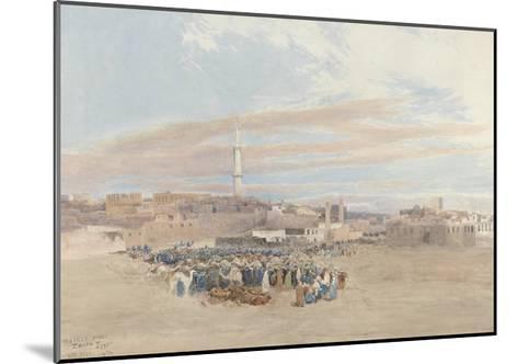 The Market Place, Tanga, Egypt, 1874-William Paton Burton-Mounted Giclee Print