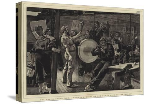 The Arctic Expedition, a Musical Evening on the Lower Deck of the Alert-William Small-Stretched Canvas Print