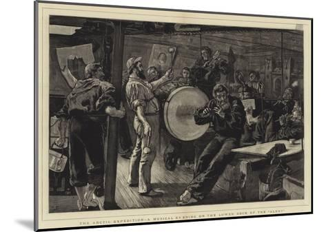 The Arctic Expedition, a Musical Evening on the Lower Deck of the Alert-William Small-Mounted Giclee Print