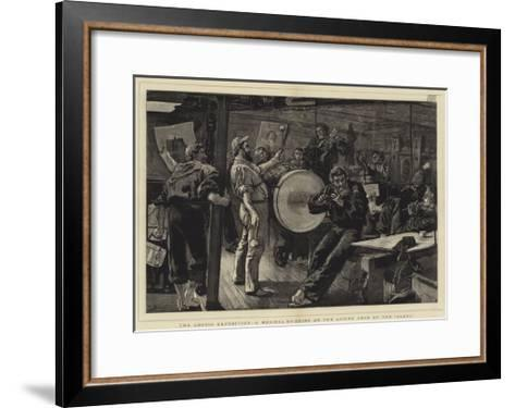 The Arctic Expedition, a Musical Evening on the Lower Deck of the Alert-William Small-Framed Art Print