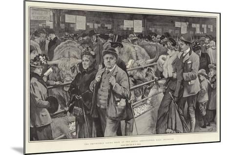 The Smithfield Club's Show at the Royal Agricultural Hall, Islington-William Small-Mounted Giclee Print