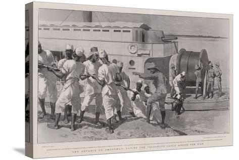The Advance on Omdurman, Laying the Telegraph Cable across the Nile-William Small-Stretched Canvas Print