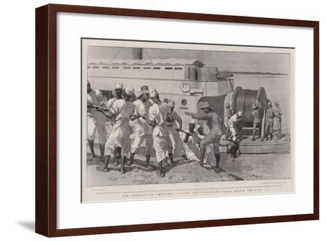 The Advance on Omdurman, Laying the Telegraph Cable across the Nile-William Small-Framed Art Print