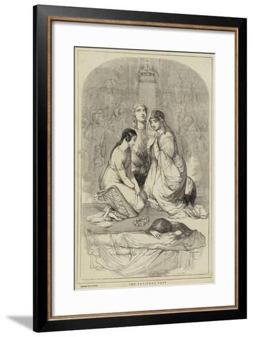 The National Fast, Designed by W Harvey-William James Linton-Framed Art Print