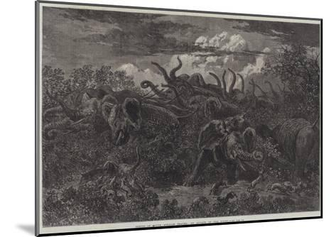 Scenes of South African Travel, an Attack in the Night-William James Linton-Mounted Giclee Print