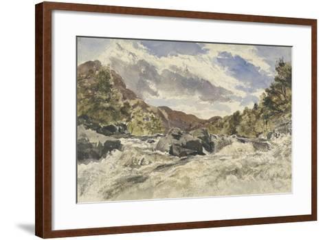 A Mountain Torrent-William James Muller-Framed Art Print
