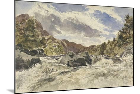 A Mountain Torrent-William James Muller-Mounted Giclee Print