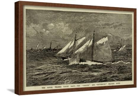 The Royal Thames Yacht Race, the Maggie and Buttercup Beating Down-William Lionel Wyllie-Framed Art Print