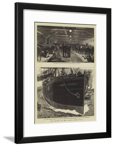 The Return of the Troops from Egypt-William Lionel Wyllie-Framed Art Print