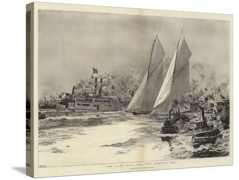 The Last Race for the America Cup-William Lionel Wyllie-Stretched Canvas Print