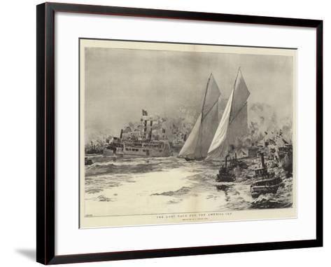 The Last Race for the America Cup-William Lionel Wyllie-Framed Art Print