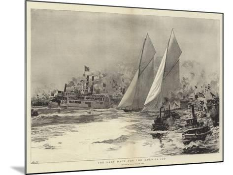 The Last Race for the America Cup-William Lionel Wyllie-Mounted Giclee Print