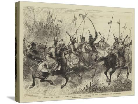 The Prince of Wales at Jummoo, Charge! Lancers of the Maharajah of Cashmere-William John Hennessy-Stretched Canvas Print