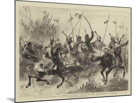 The Prince of Wales at Jummoo, Charge! Lancers of the Maharajah of Cashmere-William John Hennessy-Mounted Giclee Print