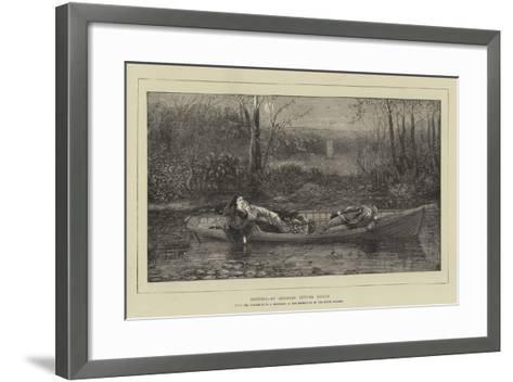 Drifting, an American Autumn Effect-William John Hennessy-Framed Art Print