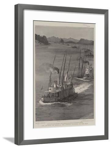 The Advance on Dongola, the Sirdar's Flotilla on the Nile-William Lionel Wyllie-Framed Art Print