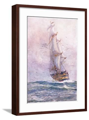 The 'Foudroyant', One of Nelson's Old Ships, 1915-William Lionel Wyllie-Framed Art Print