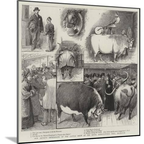 Our Artist's Impressions of the Cattle Show at the Royal Agricultural Hall, Islington-William Ralston-Mounted Giclee Print