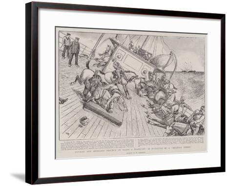 Cavalry and Artillery Practice on Board a Transport, as Suggested by a Military Expert-William Ralston-Framed Art Print