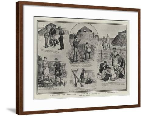 To Relieve the Monotony of Life in a South African Blockhouse-William Ralston-Framed Art Print