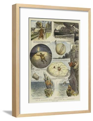 How an Enterprising Editor Lost a Balloon and a Correspondent-William Ralston-Framed Art Print