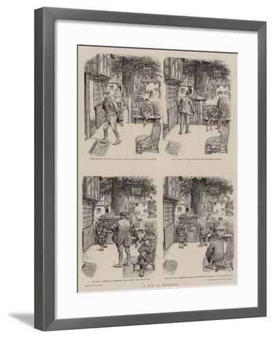 A Man of Resource-William Ralston-Framed Art Print