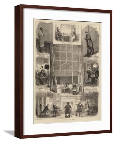 Artists in a Fog-William Ralston-Framed Art Print