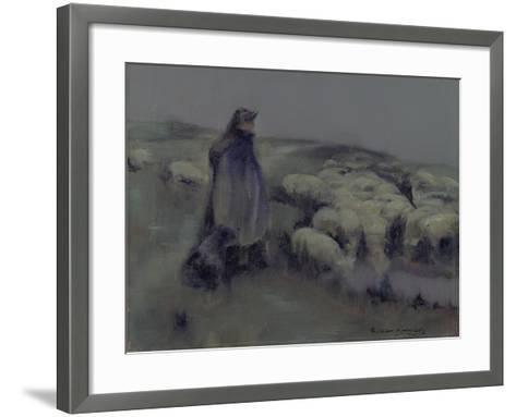 A Shepherdess, C.1890-95-William Kennedy-Framed Art Print