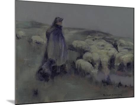 A Shepherdess, C.1890-95-William Kennedy-Mounted Giclee Print