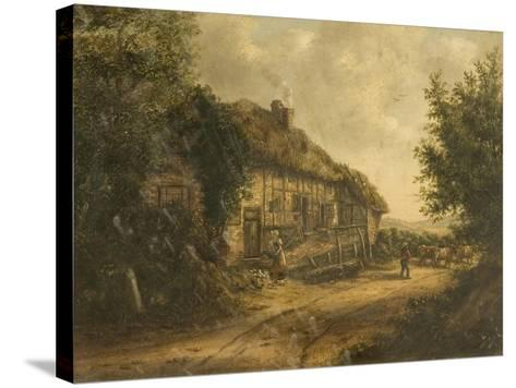 Cottages at Petersfield Hampshire, 1839-William Kidd-Stretched Canvas Print