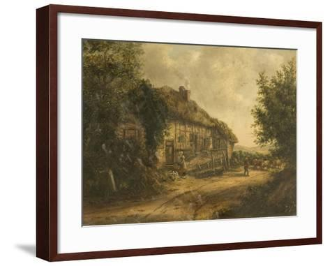 Cottages at Petersfield Hampshire, 1839-William Kidd-Framed Art Print