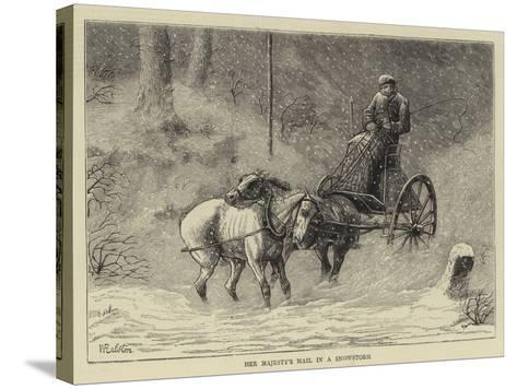 Her Majesty's Mail in a Snowstorm-William Ralston-Stretched Canvas Print