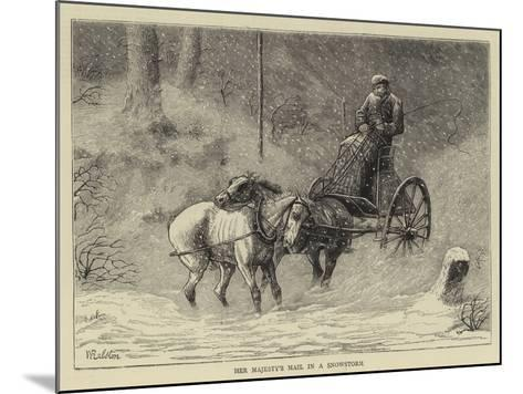 Her Majesty's Mail in a Snowstorm-William Ralston-Mounted Giclee Print