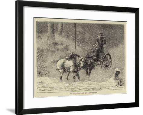 Her Majesty's Mail in a Snowstorm-William Ralston-Framed Art Print