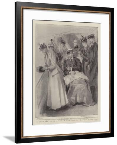 The Prince and Princess of Wales at Cowes, Awaiting the Arrival of the Queen-William Small-Framed Art Print