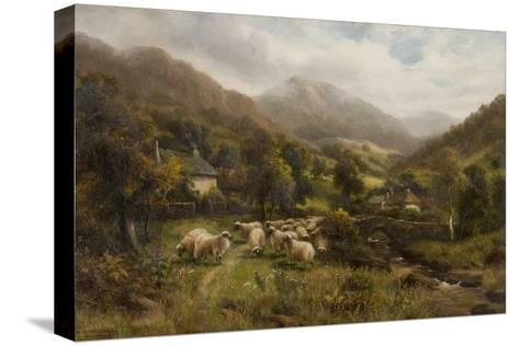 Aber, North Wales-William Langley-Stretched Canvas Print