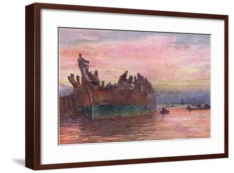 The End of an Old Warship, 1915-William Lionel Wyllie-Framed Art Print