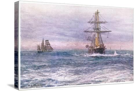 The Old 'Invincible' 1872, 1915-William Lionel Wyllie-Stretched Canvas Print