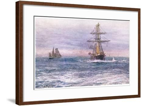 The Old 'Invincible' 1872, 1915-William Lionel Wyllie-Framed Art Print