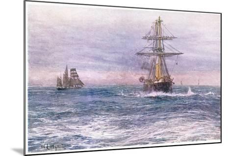 The Old 'Invincible' 1872, 1915-William Lionel Wyllie-Mounted Giclee Print