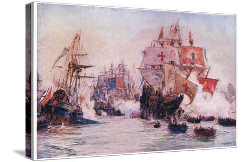 The Spanish Armada 1588, 1915-William Lionel Wyllie-Stretched Canvas Print