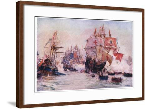 The Spanish Armada 1588, 1915-William Lionel Wyllie-Framed Art Print