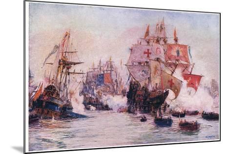 The Spanish Armada 1588, 1915-William Lionel Wyllie-Mounted Giclee Print
