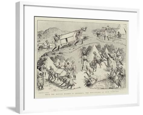 With the British Mission to Abyssinia, the Difficulties of Mule Transport-William Ralston-Framed Art Print