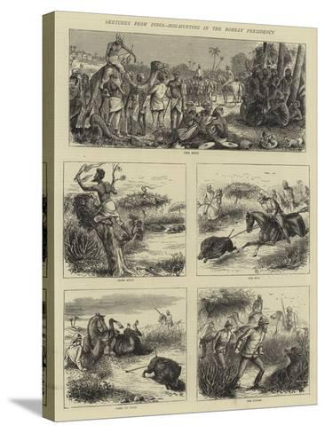 Sketches from India, Hog-Hunting in the Bombay Presidency-William Ralston-Stretched Canvas Print